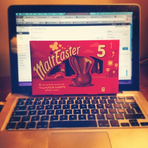 Chocolate and blogging