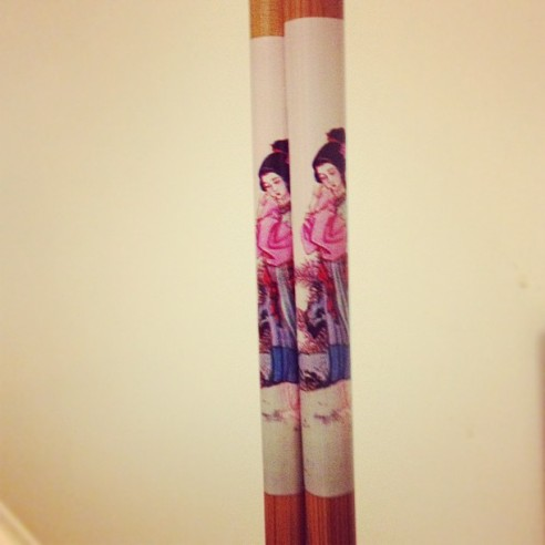 Some chopsticks I picked up for our Oriental inspired dinner party...