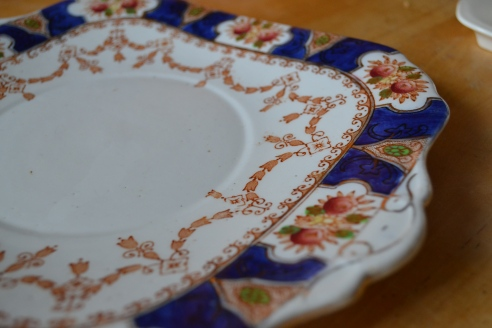 Painted  square plate