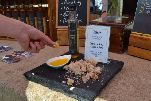 Trying some locally grown rapeseed oil - more on this soon!