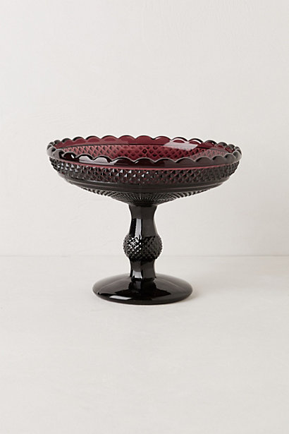 Gala footed fruit bowl which would look pretty in the middle of our table...